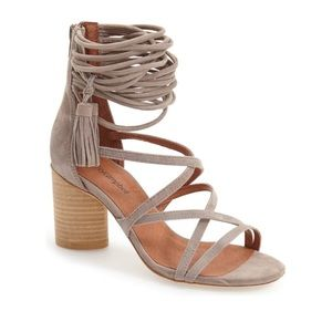 Jeffrey Campbell Despina Strappy Suede Sandals